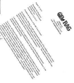 OB Rag letter OBTC bylaws