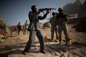 Afghan cop training