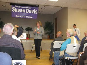Susan Davis at Town Hall Meeting in Normal Heights