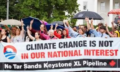 Climate change marchbanner