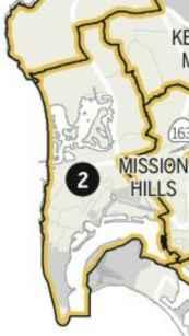 San Diego City Co. district 2 new