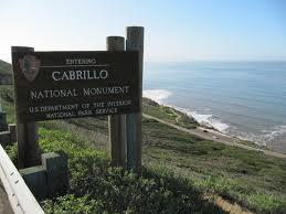 Cabrillo NatMon sign
