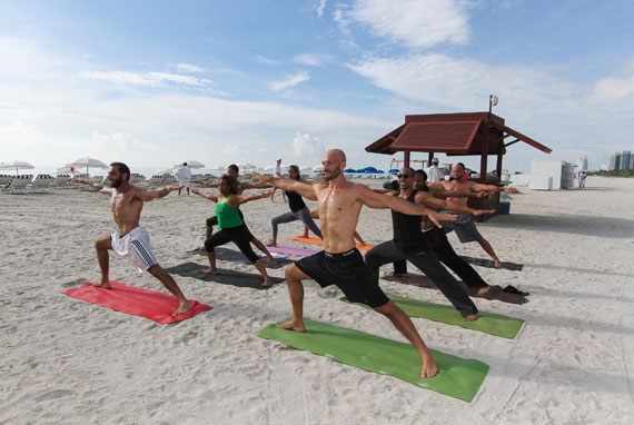 Sweaty Beach Boot Camp And Beach Yoga At W South Beach Hotel & Residences