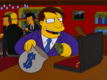 politics money Simpsons