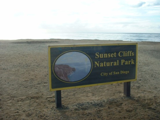 sunset cliffs park sign