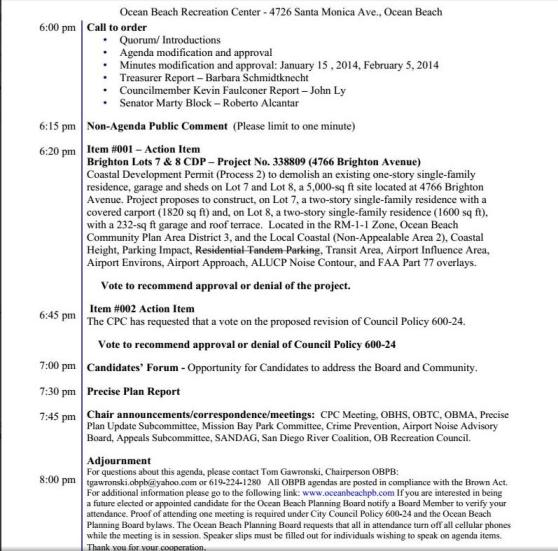 OB Plan Bd agenda 3-5-14