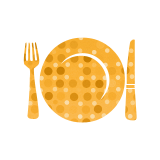 plate forknknife graphic