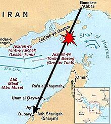 Iran airbus shotdown map