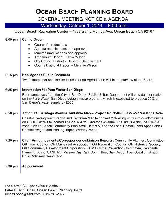 OB Plan Bd agenda 10-1-14