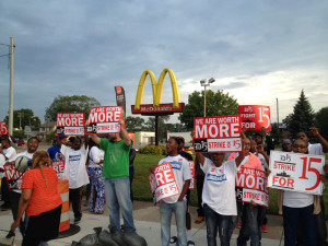 fast food worker protest