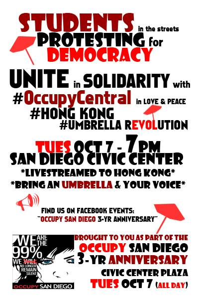 Occupy SD flier HongKong 10-7-14