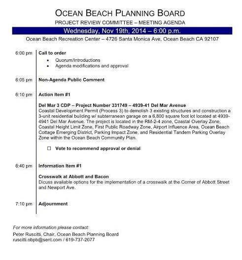 OB Plan Bd Proj Rev agenda 11-19-14
