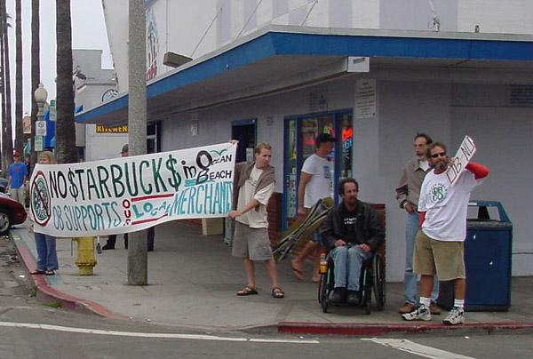 OB starbucks protest corner