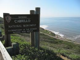 Cabrillo National Monument sign