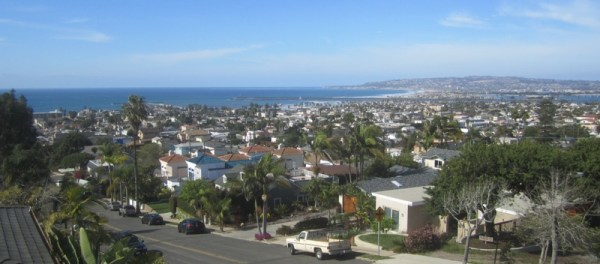 OB Look West from hilltop D6