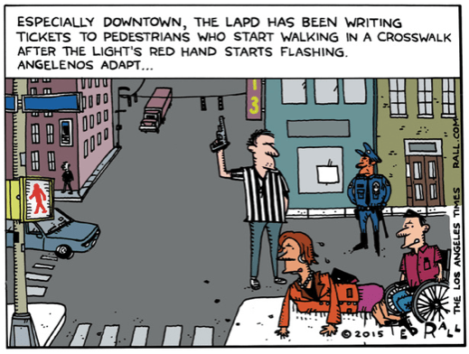 Ted Rall LAPD cart 5-11-15