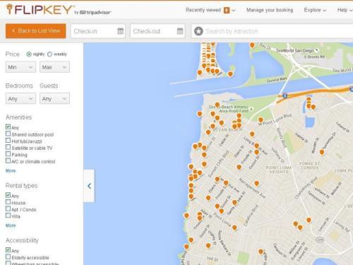 OB Vaca Rentals map flipkey