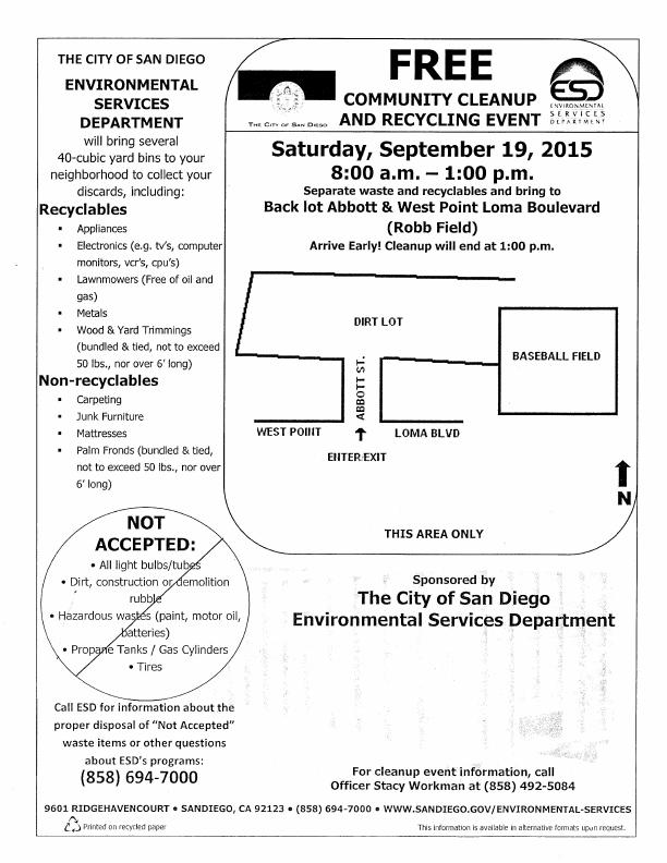 OB clean up 9-19-15 poster
