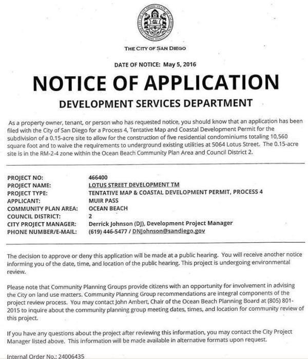 OB Lotus 5064 Notice of App