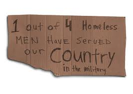 homeless sign vet one in 4