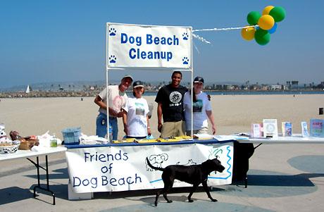 OB dog beach cleanup foto