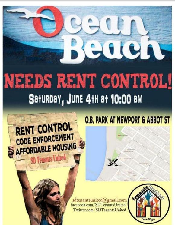 OB rent control rally postr