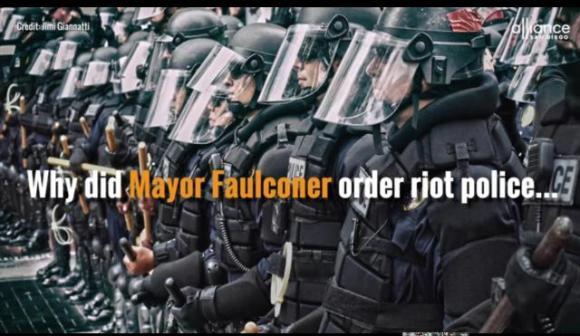 Trump SD protest cops why