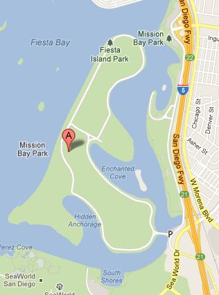 Fiesta Island map