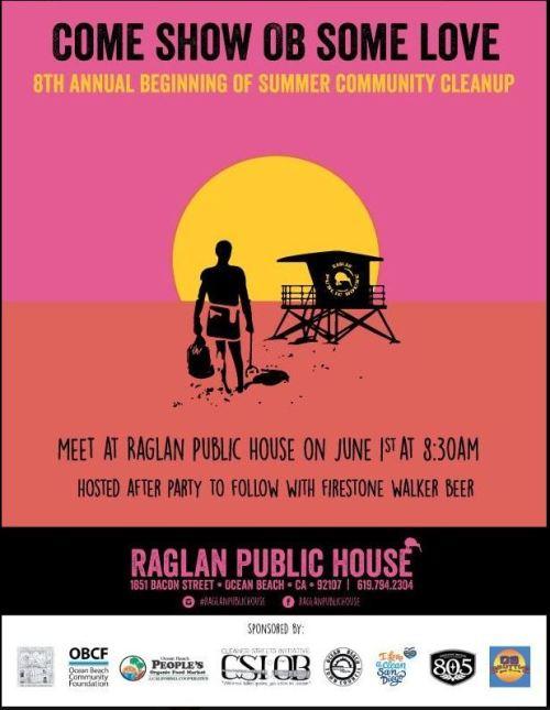 8th Annual 'Beginning of Summer' Ocean Beach Community Cleanup – Sat