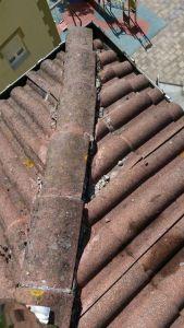 Limpieza de canalones y reparación de tejas
