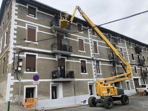restauración de la fachada lateral