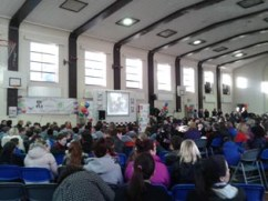 The crowd of students at the opening ceremony of One Book, One Community at O'Connells CBS