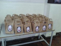 Special 'Across the Divide' goodie bags for all the students!