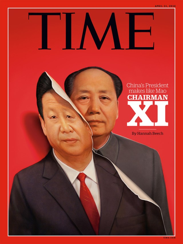 Time Cover of Chairman Xi, or Mao.