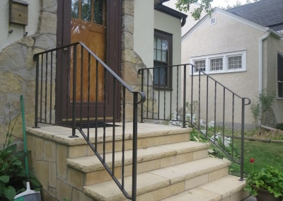 Exterior Step Railings O Brien Ornamental Iron | Handrails For Front Steps | Small House | Granite | Easy | Cast Iron | Wrought Iron