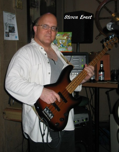 "Steven Ernst played bass on 2 tracks on the ""King Me Baby"" Album"