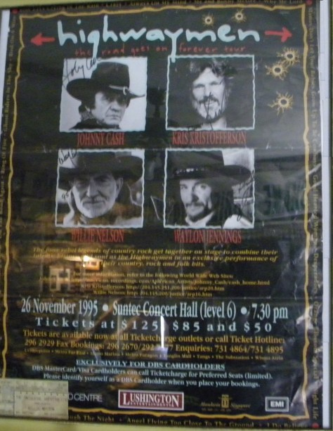 The Highwaymen Poster Live at Suntec Concert Hall 1995