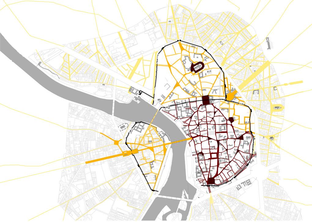 Plan du développement de la ville de Toulouse