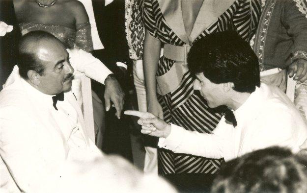 Uri Geller with Khashoggi on his 50th birthday