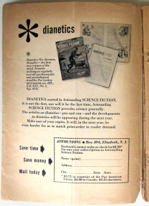 Astounding Science Fiction, November 1950. Subscription advertisement inside front cover.