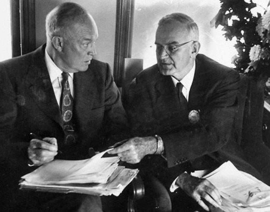 Dwight Eisenhower and Robert Cutler