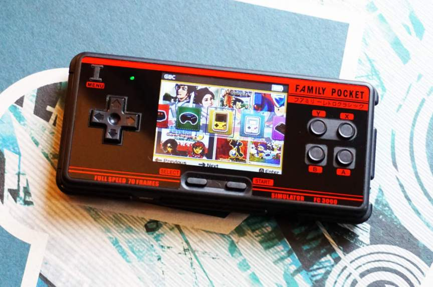 The Family Pocket FC3000 Menu