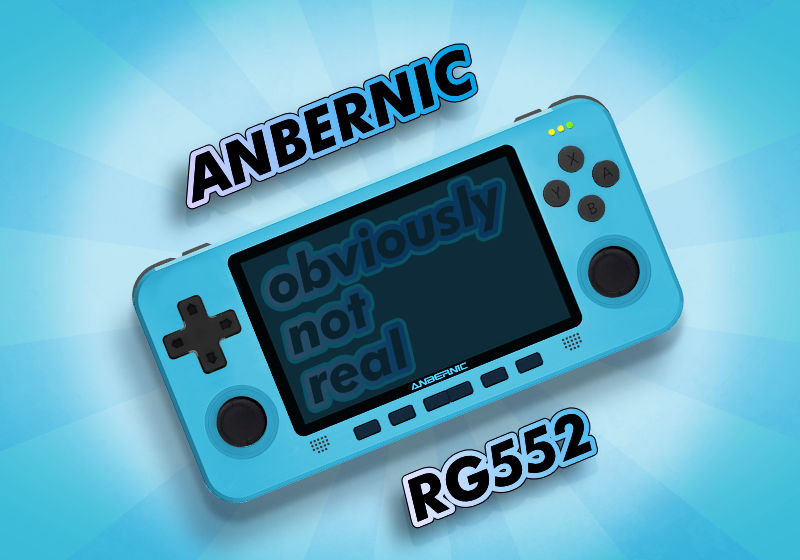 Anbernic RG552 Mockup