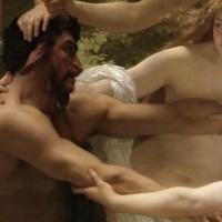 •Ninfas y Sátiro, de William-Adolphe Bouguereau.