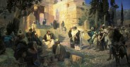 Vasily Polenov-Cristo y la mujer sorprendida en adulterio-1