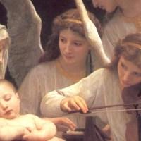 •La Virgen rodeada de ángeles, de William-Adolphe Bouguereau.