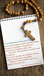 antique rosary beads and blank notebook