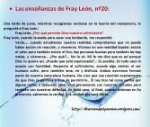 Las enseñanzas de Fray León nº20
