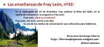 Las enseñanzas de Fray León nº32
