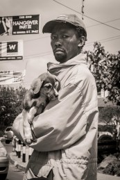 Man Selling Puppies on the Streets of Nairobi